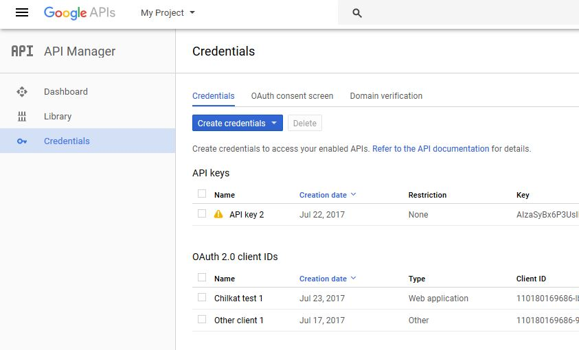 Setup Google Account for Google Drive API Walkthrough – Chilkat Tech