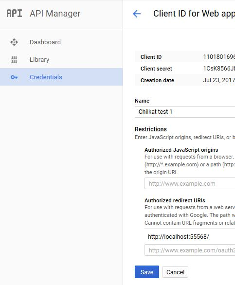 Setup Google Account for Google Drive API Walkthrough